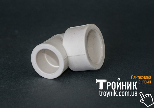 Угольник ппр редукционный 32/20х90* ВВ Tebo белый