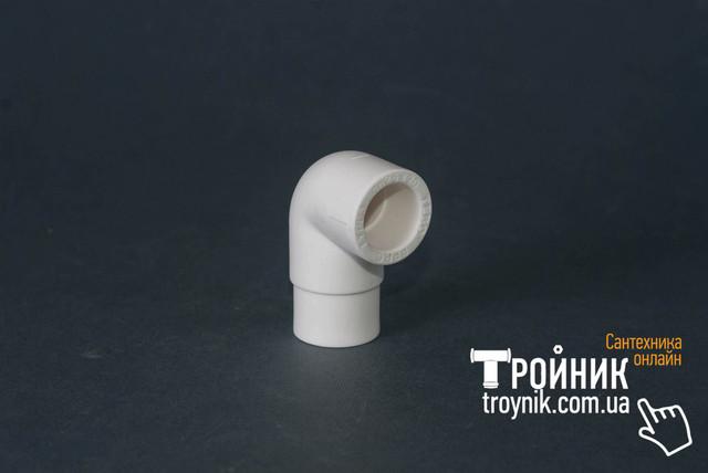 Угольник ппр редукционный 25х90* ВН Tebo белый