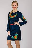 Платье вышиванка Калина (с длинным рукавом),  M - XXL