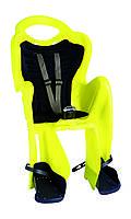 Сиденье задн. Bellelli Mr Fox Relax Multifix до 22кг, неоново-жёлтое с чёрной подкладкой (Hi Vision)