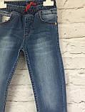 Джинсы на резинке, одежда для девочек 6-10 лет, фото 4