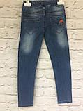Джинсы на резинке, одежда для девочек 6-10 лет, фото 5