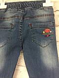 Джинсы на резинке, одежда для девочек 6-10 лет, фото 6