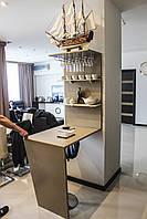Барная стойка для кухни из искусственного камня, кухня с барной стойкой