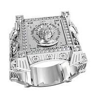 """Мужской серебряный перстень """"Жребий Цезаря""""  gaius julius caesar alea iacta est 700440"""