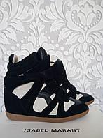 Женские сникерсы, кроссовки  Isabel marant,  NB черного с белым, серого цвета, черный, серый цвет