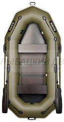 Надувная лодка BARK В-260Р Двухместная гребная, привальный брус, 4 ручки, реечный настил, комплект