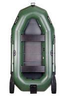 Надувная лодка BARK В-300N Трехместная гребная, реечный настил, навесной транец, комплект