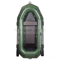 Надувная лодка BARK В-300Р Трехместная гребная, привальный брус, 4 ручки, реечный настил, комплект
