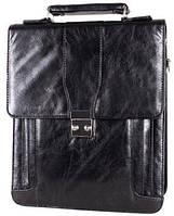 Вертикальный портфель делового стиля кожзам 302957 черный