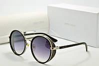 Круглые женские солнцезащитные очки JIMMY CHOO 8622 сталь черн