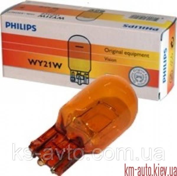 Лампа накаливания WY21W 12V 21W WX3x16d(пр-во Philips) 12071CP