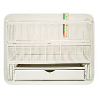 """Детская кроватка Колисковий Світ """"Малятко"""" с ящиком. Цвет: Белый"""