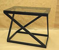 Стол стекло СС-12 (металл, стекло)