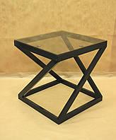 Стол стекло СС-14 (металл, стекло)