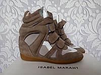 Женские сникерсы, кроссовки  Isabel marant,  NB коричневого с белым, серого цвета, коричневый, серый цвет