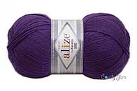 Турецкая пряжа Alize Lanagold 800 полушерсть темно-фиолетовый №44