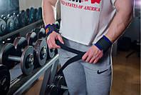 Лямки атлетические для штанги (тканевые с фиксатором)