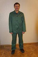 Костюм рабочий демисезонный зеленого цвета (тк.грета)