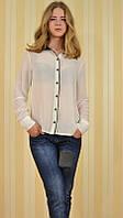 Стильная женская рубашка белая 146009 MEES Турция, фото 1