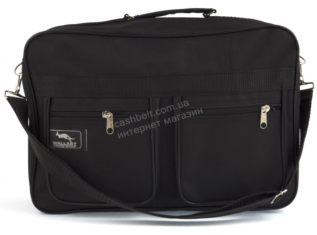 Вместительная мужская текстильная сумка черного цвета WALLABY art. 2631 Украина