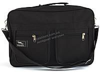 Вместительная мужская текстильная сумка черного цвета WALLABY art. 2631 Украина, фото 1