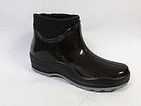 Ботинок резиновой женский БЖ-4/2 флис чёрный