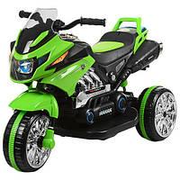 Детский электромотоцикл мотобайк BAMBI с амортизаторами, MP3, звуковыми и световыми сигналами