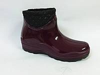 Ботинок резиновой женский БЖ-4/2 флис бордо