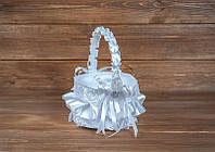 Свадебная корзинка для лепестков белая