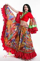 """Цыганский костюм """"Fairyland"""" люкс, красный"""