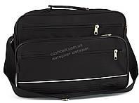Вместительная мужская текстильная сумка черного цвета WALLABY art. 2650 Украина