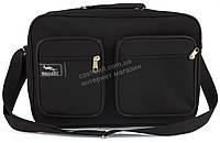 Вместительная мужская текстильная сумка черного цвета WALLABY art. 2621 Украина, фото 1
