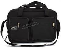 Вместительная мужская текстильная сумка черного цвета WALLABY art. 2620 Украина