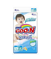 Подгузники GOO.N для детей 9-14 кг размер L, на липучках, унисекс, 54 шт (853076)