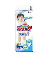 Подгузники GOO.N для детей 12-20 кг размер Big XL, на липучках, унисекс, 42 шт (853077)
