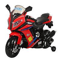 """Детский электромотоцикл мотобайк BAMBI """"Кавасаки"""" с двумя моторами, MP3 и учебными колесиками"""