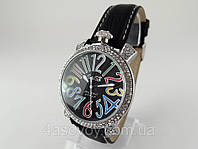 Женкские часы GaGa - Milano  -  Italy  на черном ремешке