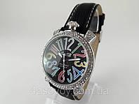 Женкские часы GaGa - Milano  -  Italy  на черном ремешке, фото 1