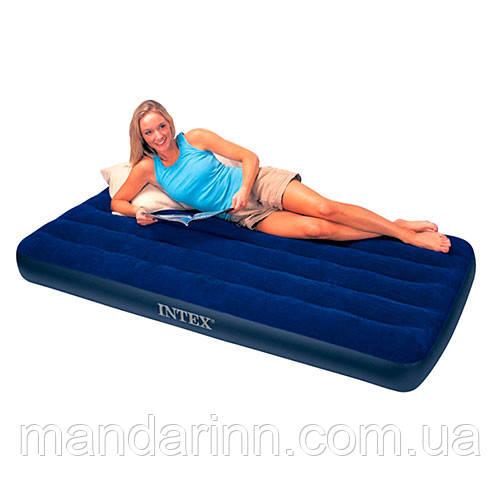 Односпальный надувной матрас Intex 68757 интекс (99х191х22 см.)