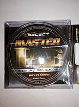 Шнур Select Master PE 100m 0.08mm 11kg