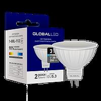 LED лампа  MR16 3W яркий свет GU5.3 GLOBAL