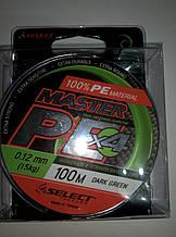 Шнур Select Master PE 100m 0.12mm 15kg