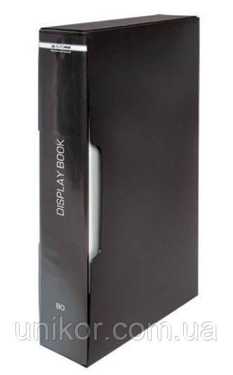Папка на 80 файлов (в коробке), ассорти. BuroMax