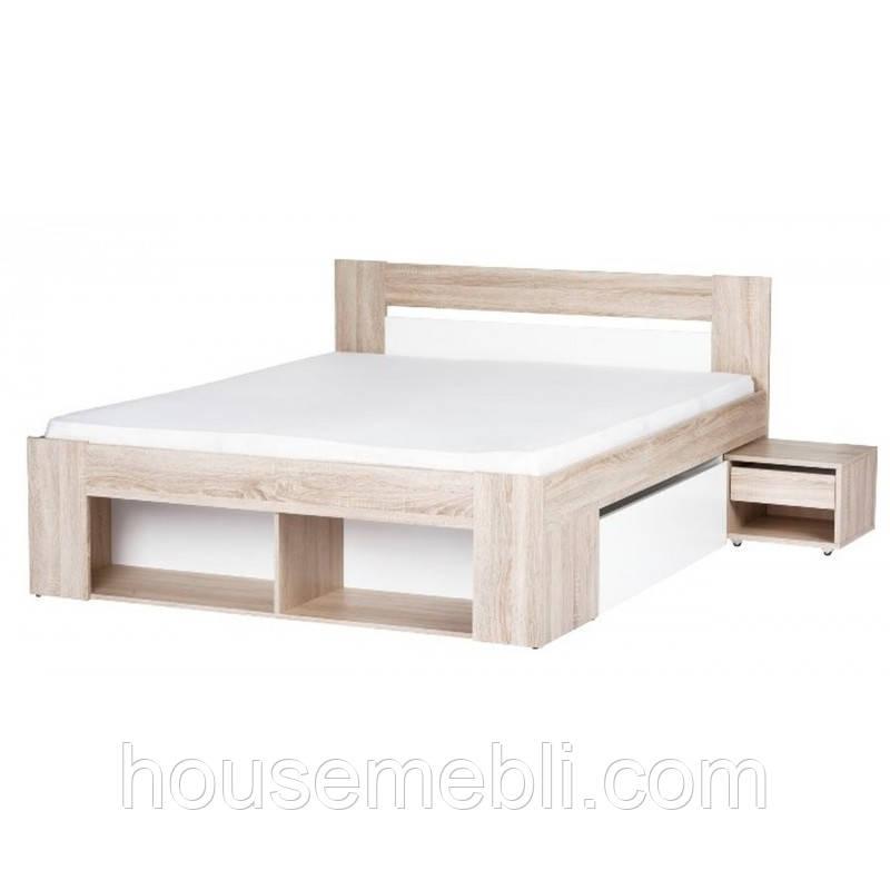 Рико кровать 90 с шухлядой и тумбой прикроватной