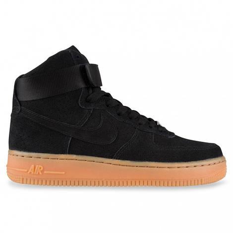 Женские кроссовки Nike Air Force 1 High Black/Gum Suede