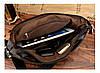Мужская сумка Polo через плечо темно-коричневая, фото 6