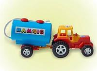 Трактор с прицепом бочкой 007-3 Бамсик