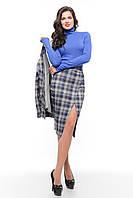 Деловой женский костюм-тройка  SO-14077-ELB  ТМ Alpama 46-50 размер