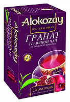 Чай Alokozay / Алокозай черный гранат, 25 ПАК. САШЕТ